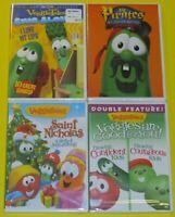 VeggieTales DVD Lot - Pirates Sing Alongs Saint Nicholas Confident & Courageous