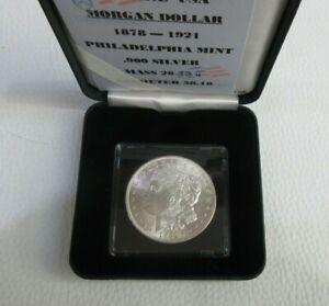 SILVER MORGAN DOLLAR $1 USA 1921 BUNC PHILADELPHIA MINT BOX & COA US MINT Cc