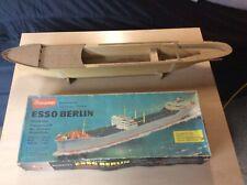 Modellschiff Graupner Esso Berlin Rarität 60iger mit Beschlagsatz