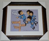 THE BEATLES IN AIR PICTURE ANIMATION LIMITED EDITION SERICEL COA FRAMED NEW
