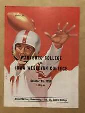Wartburg (IA) IA Wesleyan COLLEGE FOOTBALL PROGRAM - 1956 - EX