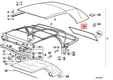 Genuine BMW E36 Cabrio Rear Zip Fastener Window OEM 54318207803