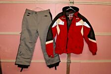 Spyder Mens Ski Snowboarding Jacket & Pants Red/Black/Grey Thinsulate Sz Medium