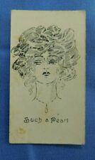 Wills Vice Regal Cigarette Card Sketches in Black & White 1900 Such a Pearl