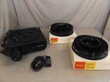 Vintage Kodak Carousel 5200 Slide Projector W/Remote 2 Trays