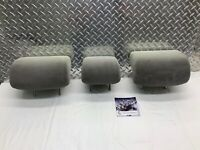2007-2011 TOYOTA CAMRY REAR SEAT 2ND ROW HEADREST SET HEAD RESTS GRAY CLOTH OEM