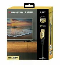 MONSTER Ultra HD Gold 4K HDMI Cable High Speed HDR 21.0 GBPFast Premium 25' Ft.
