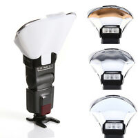 Flash Diffuser Softbox Silver White Gold Reflector for Canon Yongnuo Speedlite
