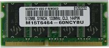 512MB PC133 SODIMM G3 G4 iMac iBook PowerBook Memory sdram Ram 144pin