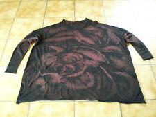 "RUNDHOLZ black label, Big T-shirt ""handpainted"", Taille OS, noir/rubin, lagenl rêve"