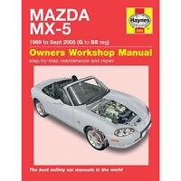 Mazda MX-5 MX5 1989 - September 2005 (G to 55 Reg) Haynes Workshop Manual