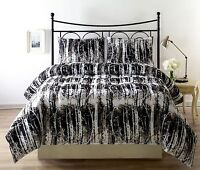 Silhuett 3pc Reversible Down Alternative Comforter Set camouflage, black,white