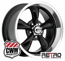 "17 inch 17x7"" / 17x9"" Gloss Black Wheels Rims for Ford Mustang 1967-1973"