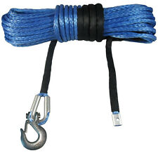 100ft 30M 10mm Synthetic Dyneema Winch Rope with Hook Wire UHMWPE SK75 4x4