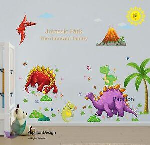 Animals Jurassic Park / Dinosaur/ Removable Nursery Baby Kid Boy wall sticker