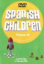 Spanish For Children Primer B 4 DVDs 2 Chant CDs New - Classical Academic Press