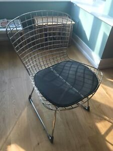 Vintage Harry Bertoia style chair chrome mesh