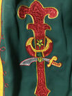 Vintage Masonic Lodge uniform ceremony Pants Embroidered 42 red