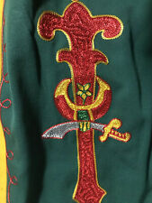 New listing Vintage Masonic Lodge uniform ceremony Pants Embroidered 42 red