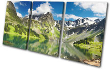 Lake Mountain  Landscapes TREBLE DOEK WALL ART foto afdrukken