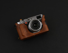 Handmade Brown Leather Half Case Bag for Fujifilm Fuji X100F x100f Camera