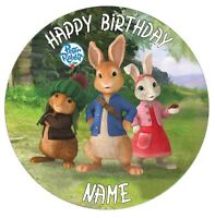 Peter Rabbit Personalised Edible Icing Cake Topper 7.5in Precut Round/Square/A4