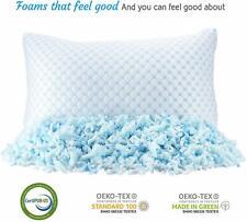 🙂❄Heat & Moisture Reducing Ice Silk/Gel Infused Memory Foam Pillow Queen 1 Pack