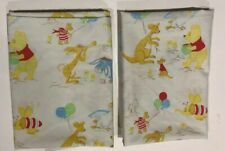 2 Vintage Winnie the Pooh Sears Pillow Cases - Perma Prest Child Toddler Bedding