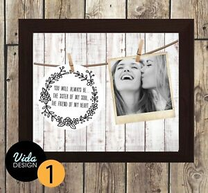 best friend gift, Birthday, True Friendship quote, personalised print