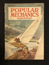 Vintage 1949 Popular Mechanics Magazine Sail Boat Cover Art