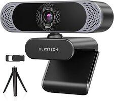 DEPSTECH 1080p Full HD Webcam Mit Mikrofon Webkamera für PC Videoaufnahmen Zoom