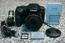 Canon PowerShot SX530 HS 16MP HD 1080p Wi-Fi Camera 50x W/ Extras 16GB SD Tested