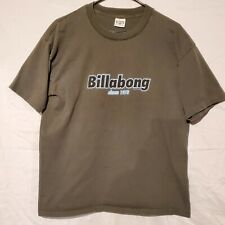 Vintage 96' Billabong Large T-Shirt 1996 90s Brown Made in USA Single Stitch