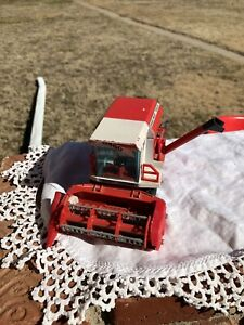 VINTAGE GAMA MADE IN WEST GERMANY MASSEY FERGUSON FARM TOY COMBINE tractor