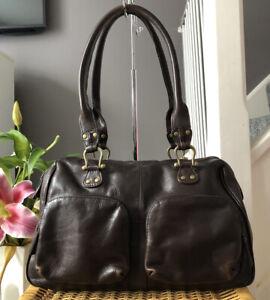 Lovely Genuine Hidesign Brown Leather Handbag , Over Shoulder Bag
