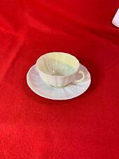 Belleek Tridacna Tea Cup and Saucer Ireland