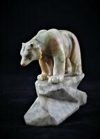 Ours polaire - Belle sculpture sur marbre signée L. RICHE