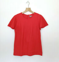 COS Size EUR 40 (Approx AU 8, 10) Shirt Top Blouse Red Wool Polyamide Cashmere