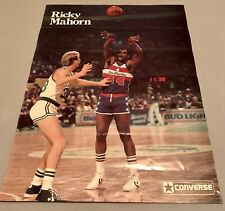 *Vintage* Original 1984 Converse Shoes Larry Bird/Ricky Mahorn NBA Poster EUC