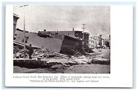 Postcard Valencia Street Hotel, San Francisco CA earthquake fire 1906 G11 B