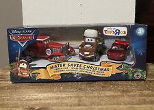 Disney Pixar Cars Mater Saves Christmas Toy's R Us Exclusive 3 Pack Santa Car