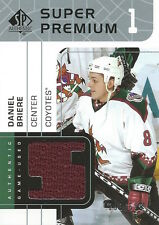 (HCW) 2002-03 UD SP Authentic Fabrics DANIEL BRIERE 293/599 Jersey NHL 01952