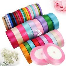 6/15/25mm Satin Ribbon Sewing Fabric Gifts Wrapping Wedding Party Decoration