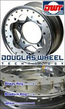 (4) Scalloped Beauty Rings For 17 Inch Douglas Beadlock Wheels With Round Holes