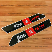 "aprilia racing "" be a racer "" large fairing decal sticker fits all rsv4 years"