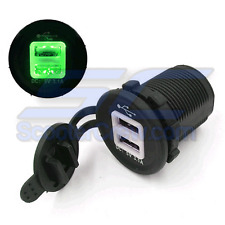 Green USB Charger Round UTV RZR RZR4 Ranger XP 1000 900 800 Crew 2015 LE Side by
