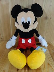 """MICKEY MOUSE Plush 24"""" Disney Stuffed Animal Just Play Red Shorts"""