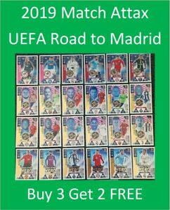 2019 Match Attax UEFA Road to Madrid 19 - Shiny Foil Cards - Buy 3 Get 2 FREE