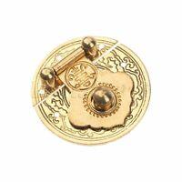 Brass Shade Cabinet Drawer Door Pull x6 Vintage NOS Quality Restoration Parts
