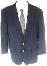 Daks Men's Blue Blazer 100% Wool Gold Two Button Size 40R 40 Regular